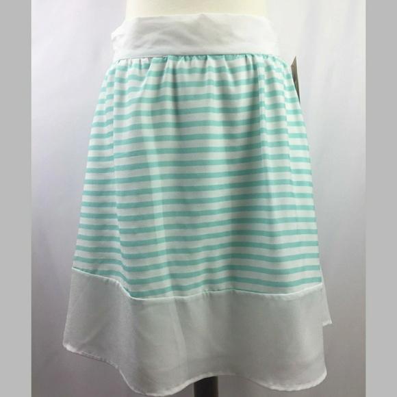 ccea6de790 Daniel Cremieux Skirts | Cremieux White And Blue Striped Skirt ...